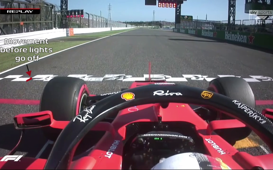 2019 Japanese GP: Vettel's false start