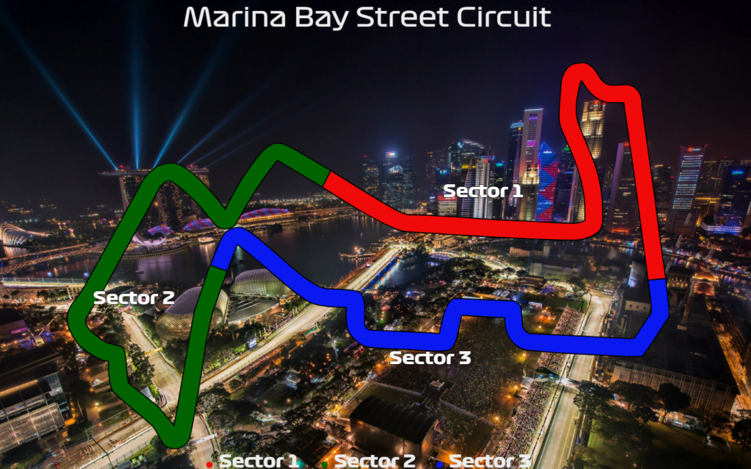 2019 Singapore GP: FP2 – Top 5 by sector (Interactive)